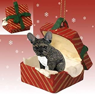 Conversation Concepts French Bulldog Gift Box Red Ornament by Eyedeal Figurines
