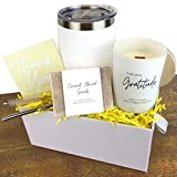 Boxzie Thank You Gift Box   Appreciation Gifts for Women - Gratitude Candle Tumbler All Natural Soap   Thoughtful Unique Gifts for Her - Friend Teacher Coworker Hostess Nurse