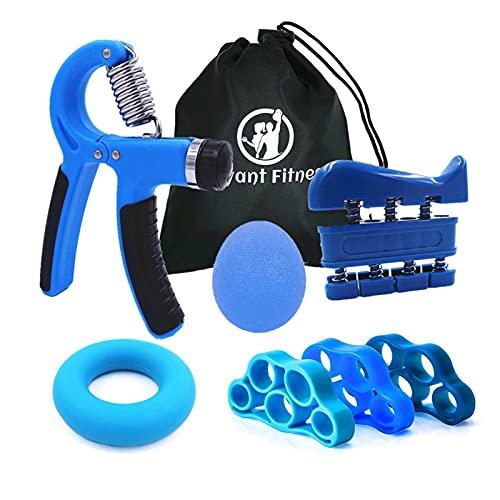 Dispositivos de entrenamiento de fuerza Kit de entrenamiento del fortalecimiento de la mano del agarre de la mano Ajustable de la gripera de la mano del anillo de la banda del ejercicio de la rehabili