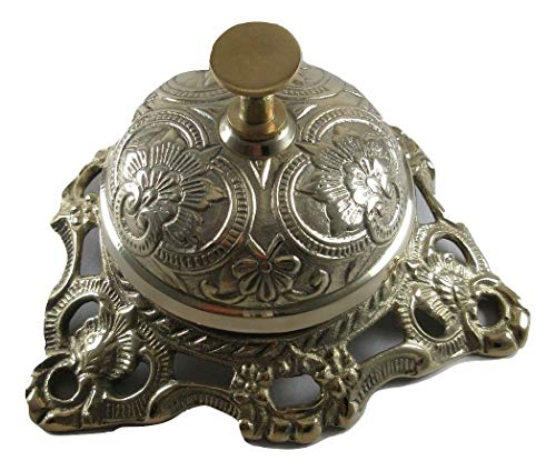 Ornate Solid Brass Hotel Counter Bell