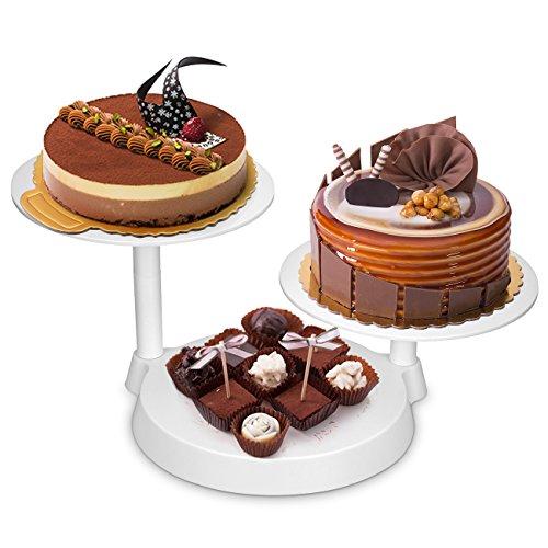 Uten Bandejas para Tartas Plástico Soporte de Torta Decoración de Pasteles Expositor para Hornear Herramientas 11 Inch