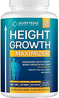 Height Growth Maximizer - Natural Height Pills to Grow Taller - Made in USA - Growth Pills with Calcium for Bone Strength...
