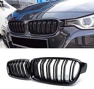 Raccordi Carrozzeria per BMW X3 F25 2011 2012 2013 Griglie Paraurti Anteriore da Corsa 1 Paio Griglie per Rene Anteriori Nero Lucido Opaco Color : Lucido