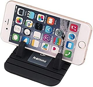 Remax Car Phone Holder, Car Phone Mount Silicone Phone Car Dashboard Car Pad Mat Various Dashboards, Anti-Slip Desk Phone Stand Compatible with iPhone Samsung Galaxy Note HTC LG BlackBerry (Black)