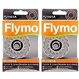 Flymo FLY021A Original-Ersatz-Spule und -Faden für Flymo-Rasentrimmer Mini Trim Auto ST / XT / Plus XT, 2er-Pack