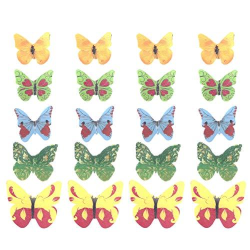 40 piezas de decoración de mariposas comestibles de papel de arroz para...