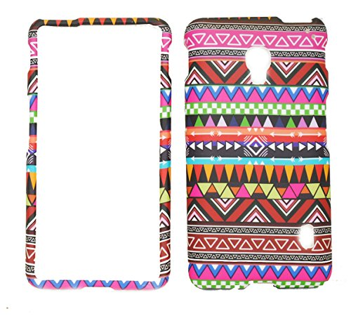 Tribal Design Rubberized Protective Cover Case for LG Optimus F6 D500 / MS500