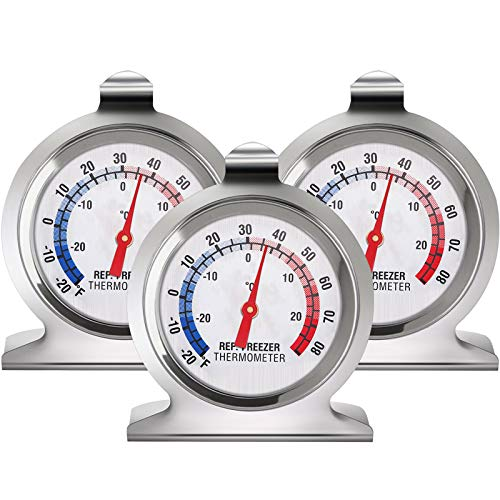 Gejoy Kühlschrank Gefrierschrank Thermometer Klassisch Serie Groß Wählen Thermometer Temperatur Thermometer für Kühlschrank Gefrierschrank Kühler (3)
