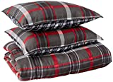 Eddie Bauer Home Willow Collection Bedding Set-Soft and Cozy, Reversible Plaid Comforter, Queen,...