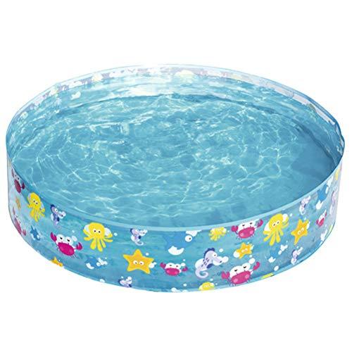 HAINIWER Kinderschwimmbad, Hartplastik Ozean Spielen Snapset Pool faltbar, runde Marine Ball Pool Babywanne Planschbecken für Sommer Outdoor-Aktivität Baby Geschenke