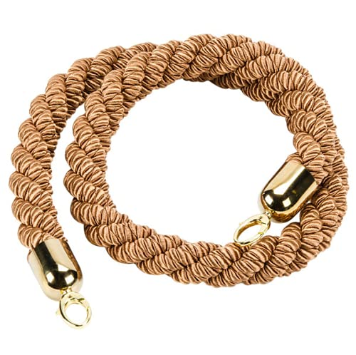 Pack Discount mail half order 2 Braided Bronze Barrier System Gold Room with Ends Rope