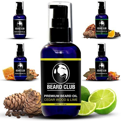 Aceite de Barba Perfumado Premium - Cedar Wood & Lime 100ml | Deja tu Barba Suave, Sin Picor y Sin Escamas, Ayuda a su Crecimiento | Acondicionador Para Hombre Potente 100% Natural Para Barba