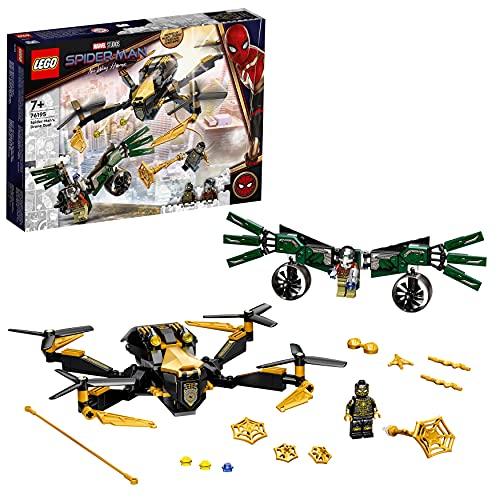 LEGO Marvel Duello Con Il Drone Di Spider-Man, Giocattoli Bambini 7 Anni e Più, Idea Regalo di Compleanno o Natale Supereroi, 76195