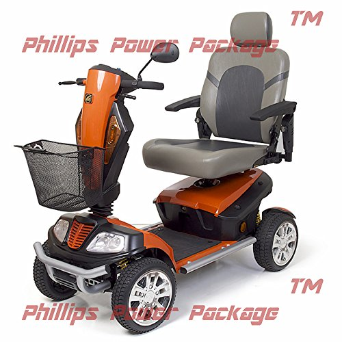 Best Deals! Golden Technologies - Patriot - Heavy Duty Scooter - 4-Wheel - Orange - Phillips Power P...