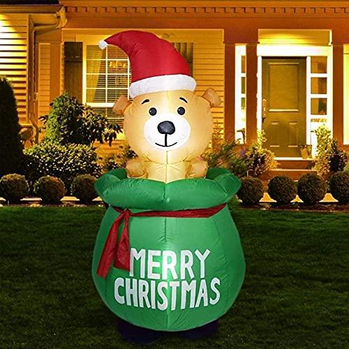Decoración Navideña Muñeco inflable Modelo inflable del oso inflable de Navidad con el tapón de 5 pies de navidad DIRIGIÓ Iluminado, Decoraciones de Navidad Decoraciones de jardín al aire libre para e