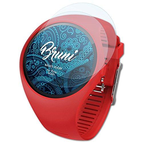 Bruni Schutzfolie kompatibel mit Polar M200 Folie, glasklare Bildschirmschutzfolie (2X)