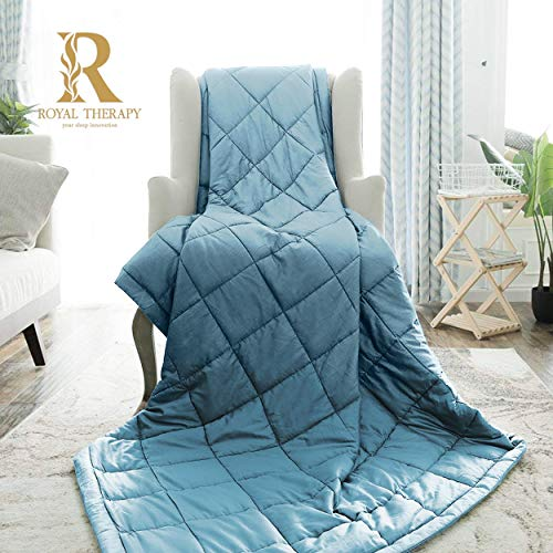 Royal Therapy Weighted Blanket - Heavy 100% Cotton...