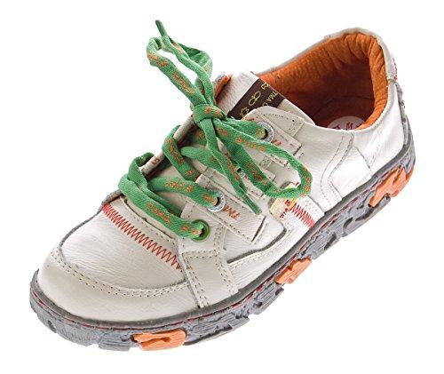 TMA Comfort Damen Leder Schuhe Schnürer 4181 Sneakers Weiß Turnschuhe Halbschuhe Gr. 40