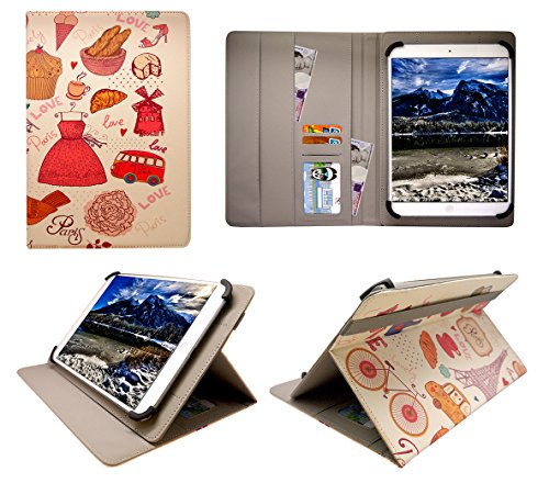 Sweet Tech Onda oBook 20 Plus Tablet 10.1 Inch Paris Universal Wallet Case Cover Folio (10-11 inch)