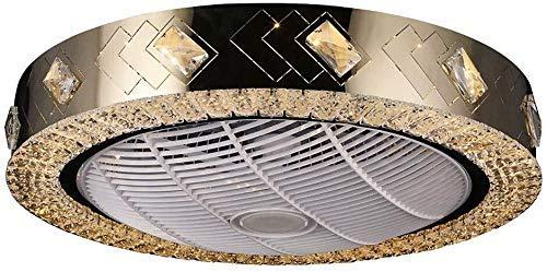 Inicio Equipos Ventilador de techo de cristal con control remoto 3 colores Luz regulable Ventilador de techo ajustable Super silencioso con lámpara Ventilador invisible Luz de techo para sala de es