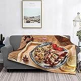 Tisch Spezielle Geschmolzene Fleischgabel Mit Bratfleischmuster, Große Besondere Komfortdecke