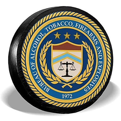 LYMT US-Büro für Alkoholtabak und Schusswaffen ATF Reserverad Reifenabdeckung für Anhänger RV SUV LKW Reiseanhänger Zubehör