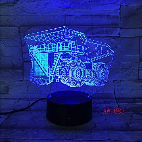 jiushixw 3D acryl nachtlampje met afstandsbediening van kleur veranderende tafellamp vorkrupsje kind kind baby geschenk hoge tafellamp kwik zilver glas