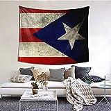 Tapiz con bandera de Puerto Rico para colgar en la pared y decoración del hogar para dormitorio, sala de estar, decoración de dormitorio (60 x 51 pulgadas)