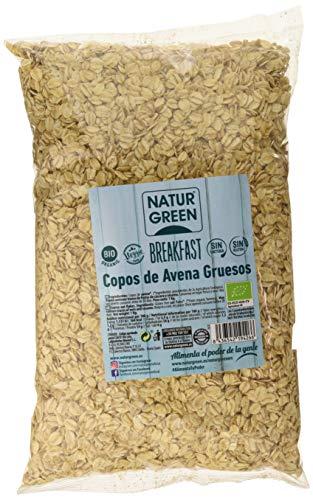 NaturGreen Copos de Avena Gruesos Sin Gluten Bio - Pack de 6 unidades x 1 Kg
