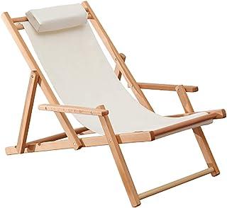 屋外 ポータブル 折りたたみチェア アームレスト付き, 無重力 高さ調整 ビーチ デッキチェア 庭 ピクニック バーベキュー 木製の長椅子