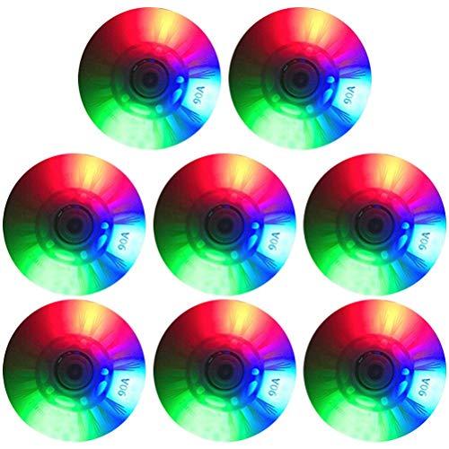 XOYZUU Ruedas de patinaje en línea de 76 mm a 68 mm, luz LED, 8 unidades de ruedas de repuesto para niñas y niños con 16 rodamientos