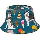 Well I do! Bucket Hat Alaskan Malamute Foodie Cappello da pescatore Unisex Reversibile Cappello da pescatore Zaino da viaggio Casual Beach Golf Cappelli da Sole per uomo Donna