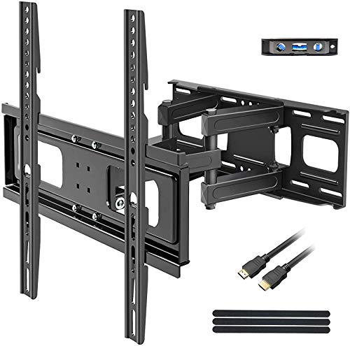 BLUE STONE Full Motion TV Wall Mounts TV Bracket for Most 32-65 Inch Flat Screen TVs, TV Mount with Articulating Dual Arms Tilt Swivel 14