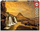 Educa Borrás Puzzle 1.000 piezas, Cascada Kirkjufellsfoss, Islandia, color variado, 1000 17971