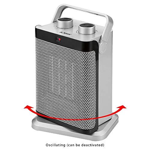 Heizlüfter und Ventilator Kombigerät Heizgerät Schnellheizer (1500 Watt, Oszillierend, Tragegriff, Sicherer Stand)