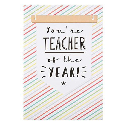 Hallmark - Tarjeta de agradecimiento para profesor, diseño con texto en inglés