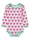 loud + proud Baby-Mädchen Longsleeve Allover Print Organic Cotton Formender Body, Rosa (Azalea Aza), (Herstellergröße: 74/80)