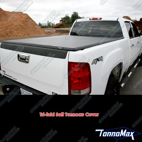 TonnoMax F-150 SUPERCREW CAB 5.5' Short Bed 2004-2014 Soft TRI-FOLD TONNEAU Cover