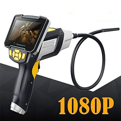 Kaibrite - Telecamera endoscopio industriale HD digitale per ispezione 4,3 pollici LCD manuale endoscopio industriale ispezione fotocamera endoscopica 8 mm 6 LED