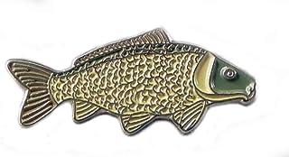 Spilla in Metallo smaltato per Pesca alla Carpa Comune