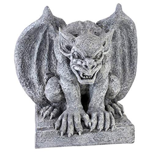 Design Toscano AL52694 Gomorrah The Gargoyle Gothic Decor Statue, 11 Inch, Greystone