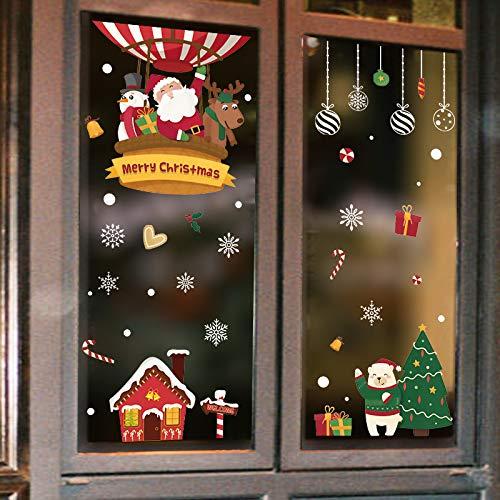 Natale Adesivi Vetrofanie Display Rimovibile Murali Fai da te Finestra Decorazione Vetrina Wallpaper...