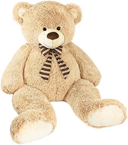 Brubaker XXL Teddybär 150 cm groß - Beige - Stofftier Plüschtier Kuscheltier