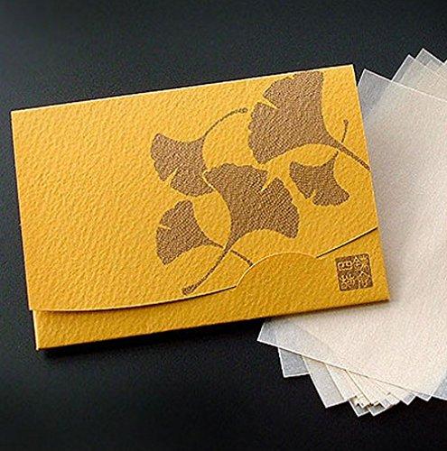 季節の花 銀杏 「絹すき」短冊サイズ