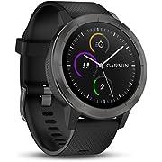 Garmin Vivoactive 3 Smartwatch con GPS y Pulso en la muñeca, Unisex Adulto, Negro (Gunmetal), M/L (Reacondicionado)