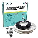 Taco SuproFlex Rub Rail Kit White w/Flex Chrome Insert 2 H x 1.2 W x 80' L