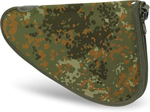 normani Abschließbare, weich gepolsterte Pistolentasche mit umlaufendem Reißverschluss und Abschließvorrichtung Farbe Flecktarn Größe S