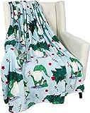 votgl Christmas Holiday Throw Blanket Gartenzwerge bringen den Baum Design-Akzent für Couch Stuhl oder Bett 50 x 40 nach Hause