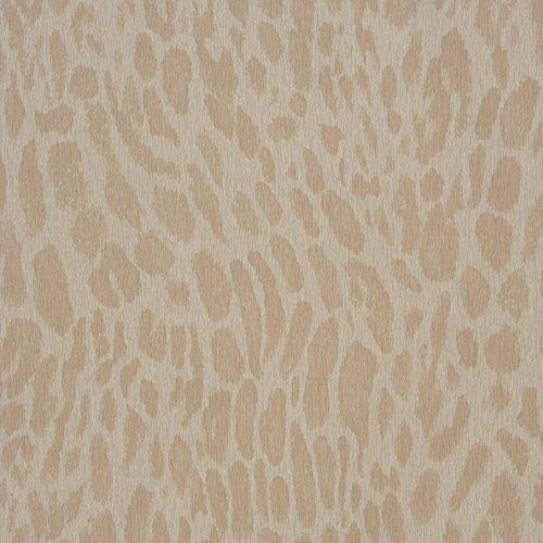 Casadeco 21901130 Papel pintado de imitación piel de animales con manchas color piedra claro y beige