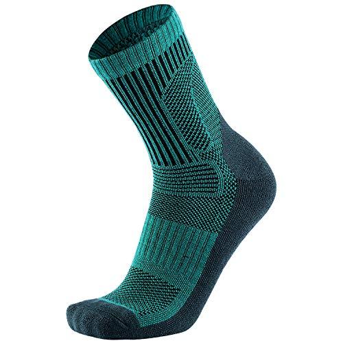 Merino Wool Hiking Socks-3 Pack Performance Cushion Crew Socks for Men Women-Warm Breathable
